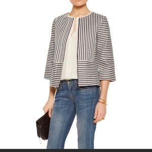 Tory Burch used Rene striped jacket. Size 2